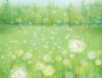 Vector spring landscape. royalty free illustration