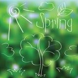 Vector spring landscape background Stock Photo
