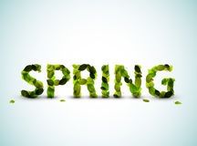 Vector spring lettering illustration Stock Images