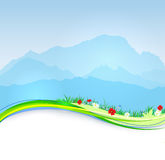 Vector  spring Mont Blanc background Royalty Free Stock Photography