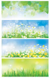 Vector spring nature banners. Royalty Free Stock Images