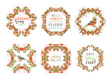 Vector spring ornate frames. Royalty Free Stock Photo