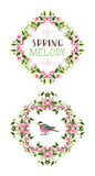 Vector spring ornate frames. Royalty Free Stock Images