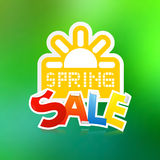 Vector Spring Sale Theme Stock Photos