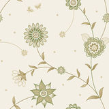 Vector spring seamless pattern with flowers. Stock Photos