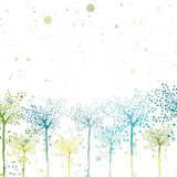 Vector spring trees bright sunny background Royalty Free Stock Photo