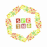 Vector  Spring Wreath Royalty Free Stock Photography
