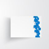 Vector  square. Abstract background card blue. Royalty Free Stock Photos