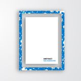 Vector  square. Abstract background card blue. Royalty Free Stock Images