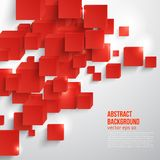 Vector  square. Abstract background card red. Vector  square. Abstract background card and red. 3d Stock Photos