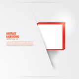 Vector  square. Abstract background card red. Royalty Free Stock Photography
