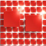Vector  square. Abstract background card red. Stock Photos