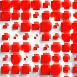 Vector  square. Abstract background card red. Stock Images