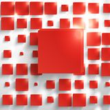 Vector  square. Abstract background card red. Royalty Free Stock Image