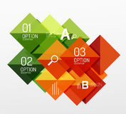 Vector square abstract background Stock Images