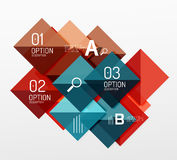 Vector square abstract background Royalty Free Stock Photo