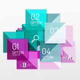 Vector square abstract background. Square abstract background. Vector template background for workflow layout, diagram, number options or web design Stock Photography