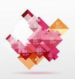 Vector square abstract background. Square abstract background. Vector template background for workflow layout, diagram, number options or web design Royalty Free Stock Photography