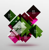 Vector square abstract background Stock Image