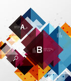 Vector square abstract background. Square abstract background. Vector template background for workflow layout, diagram, number options or web design Royalty Free Stock Photo