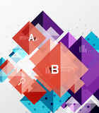 Vector square abstract background. Square abstract background. Vector template background for workflow layout, diagram, number options or web design Stock Photos