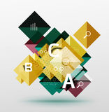 Vector square abstract background. Square abstract background. Vector template background for workflow layout, diagram, number options or web design Royalty Free Stock Images