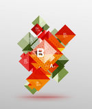 Vector square abstract background Stock Photo