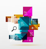 Vector square abstract background. Square abstract background. Vector template background for workflow layout, diagram, number options or web design Stock Image