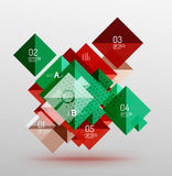 Vector square abstract background. Square abstract background. Vector template background for workflow layout, diagram, number options or web design Royalty Free Stock Image