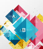 Vector square abstract background. Square abstract background. Vector template background for workflow layout, diagram, number options or web design Stock Photo