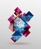 Vector square abstract background Royalty Free Stock Image