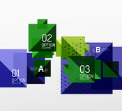 Vector square abstract background Stock Photography