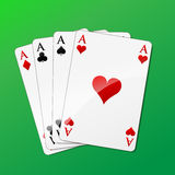 Vector square of aces Royalty Free Stock Photos