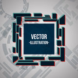 Vector square banner blue, green, red. Abstract background card. Vector illustration Stock Photo