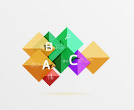 Vector square banner Stock Image