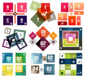 Vector square banners templates set Stock Photos