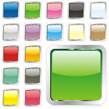 Vector square buttons Stock Image