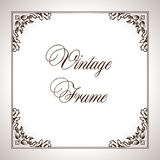 Vector square calligraphic frame Royalty Free Stock Photography