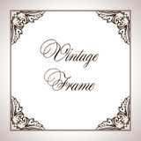 Vector square calligraphic frame Royalty Free Stock Photos
