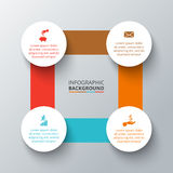 Vector square with circles for infographic. Royalty Free Stock Image