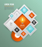 Vector square concepts with icons Royalty Free Stock Photography