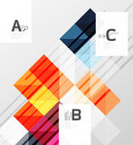 Vector square elements on gray abstract background with infographics Royalty Free Stock Images