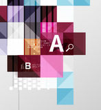 Vector square elements on gray abstract background with infographics Royalty Free Stock Photography