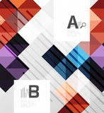 Vector square elements on gray abstract background with infographics. Vector template background for print workflow layout, diagram, number options or web Royalty Free Stock Photos