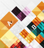 Vector square elements on gray abstract background with infographics Royalty Free Stock Photos
