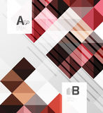 Vector square elements on gray abstract background with infographics Stock Photos