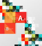 Vector square elements on gray abstract background with infographics. Vector template background for print workflow layout, diagram, number options or web Stock Photo