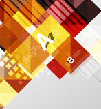 Vector square elements on gray abstract background with infographics Stock Image