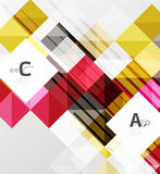 Vector square elements on gray abstract background with infographics. Vector template background for print workflow layout, diagram, number options or web Stock Images