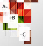 Vector square elements on gray abstract background with infographics Royalty Free Stock Image